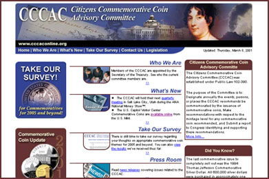 Citizens Commemorative Coin Advisory Committee website